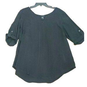 Torrid, black, 100% rayon blouse, size 1X, EUC
